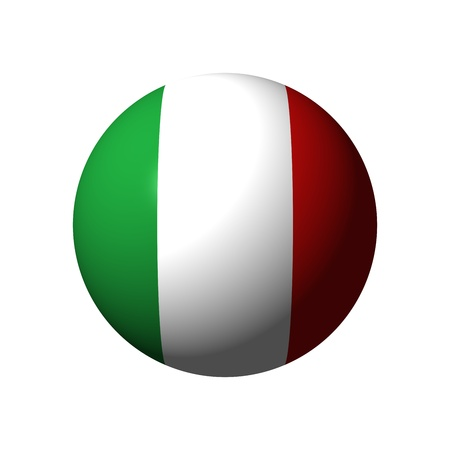 green flag: Sphere with flag of Italy nation