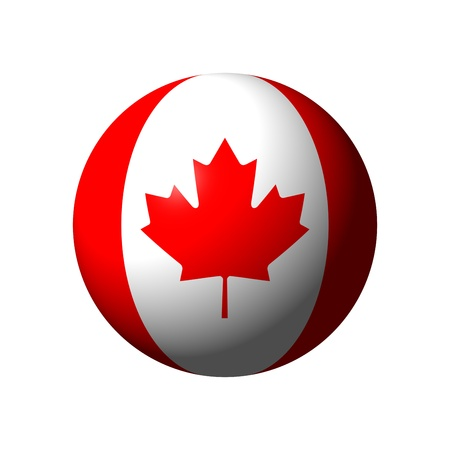 sphere: Sphere with flag of Canada nation Stock Photo