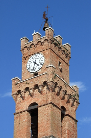 Bell Tower of the Town Hall of Pienza, Italy photo