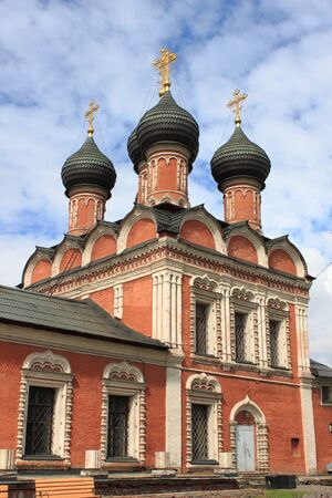 petrovka: Church of Our Lady of Bogolyubovo in the Vysokopetrovsky Monastery  Moscow, Russia Stock Photo