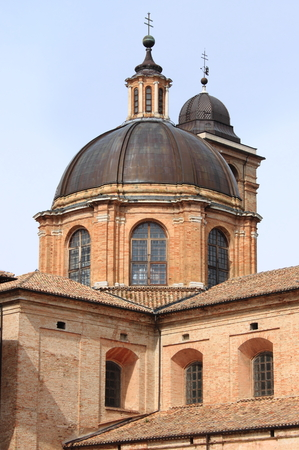 Dome of the cathedral of Urbino, Italy photo