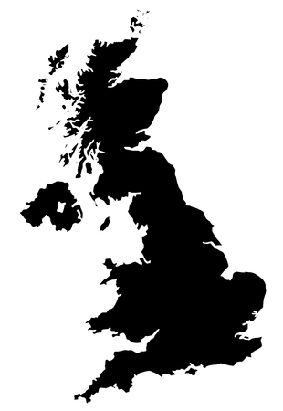 Map of UK filled with black color photo