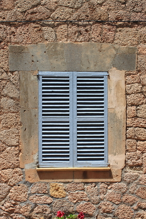 baffle: Italian style shutters in a old medieval palace