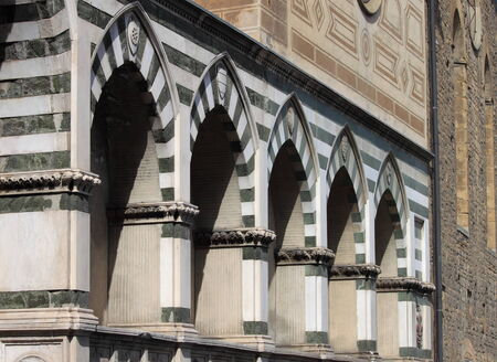 niches: Sepulchral niches called  Avelli  in Santa Maria Novella church in Florence, Italy