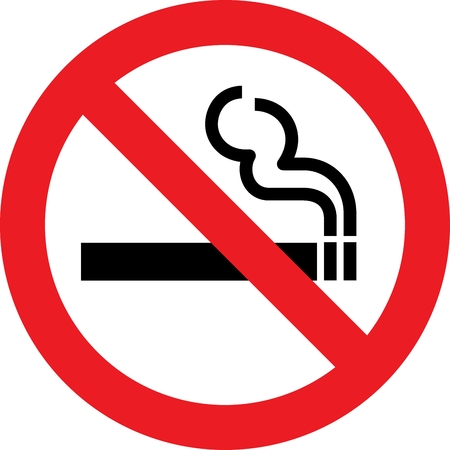 poison sign: No smoking allowed sign