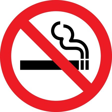 no problems: No smoking allowed sign