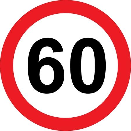 limitation: 60 speed limitation road sign