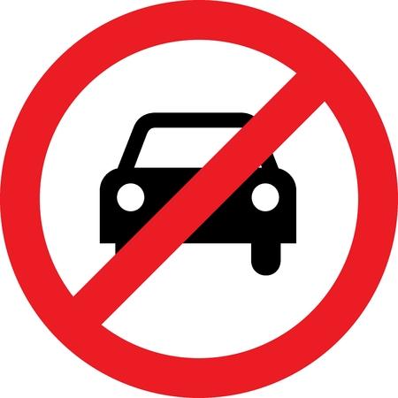 No car or no parking street sign