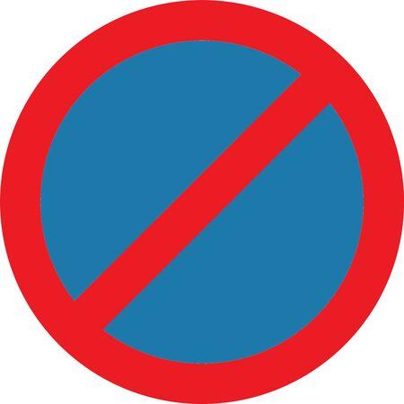 no parking: Pas de panneau de signalisation de stationnement Banque d'images