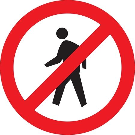Geben Sie keine Zeichen - Authorized Personnel Only Standard-Bild