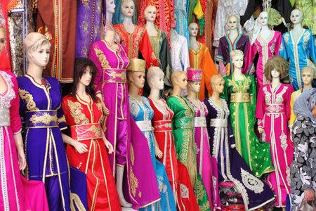 Djellaba, a traditional long female dress in Marrakesh, Morocco
