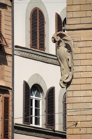 Medieval corner in Florence, Italy