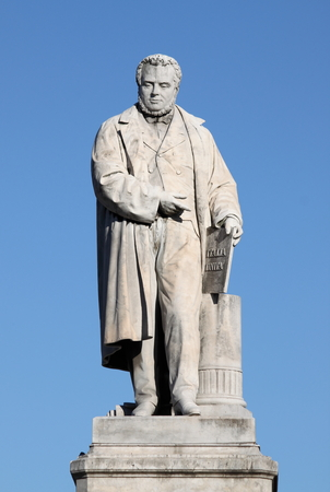 cavour: Monument to Camillo Benso of Cavour in Ancona, Italy