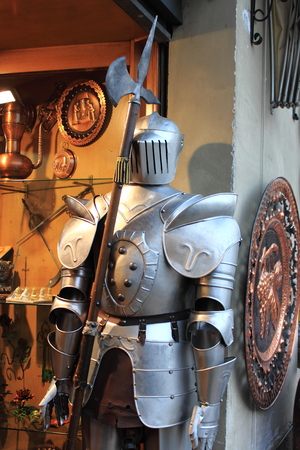 buckler: Medieval armor with halberd