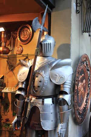 buckler: Medieval armor with halberd