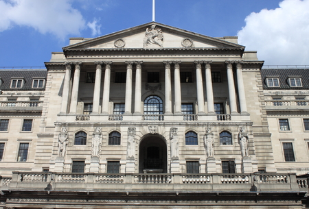 LONDON, UK - AUGUST 7: Bank of England building on August 7, 2014 in London, UK