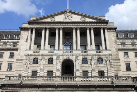 LONDON, UK - 7 agosto: Bank of England edificio il 7 agosto 2014 a Londra, Regno Unito Archivio Fotografico - 35832002