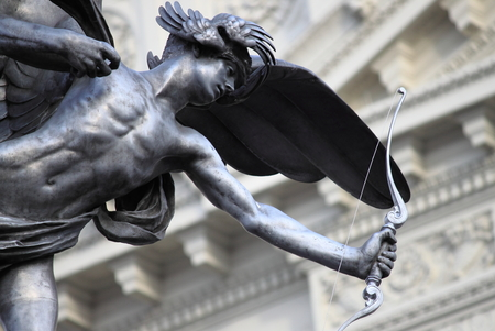 piccadilly: Statue of Eros in Piccadilly Circus, London