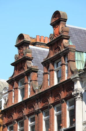 typically english: Some typical british red brick mansions
