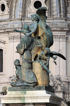 emmanuel: Statue of the Thought carved by Giulio Monteverde in the monument to Victor Emmanuel II. Venice Square, Rome