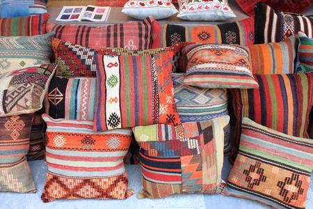 saddlebag: Cushions shop in Istanbul, Turkey