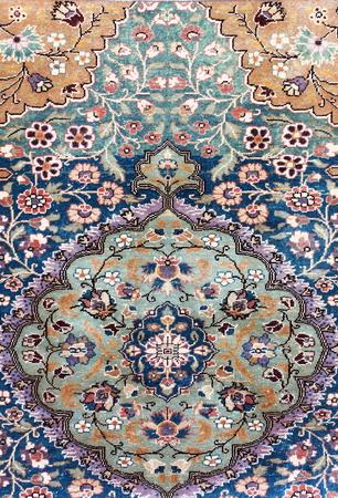 Texture of a Turkish Carpet Stock Photo