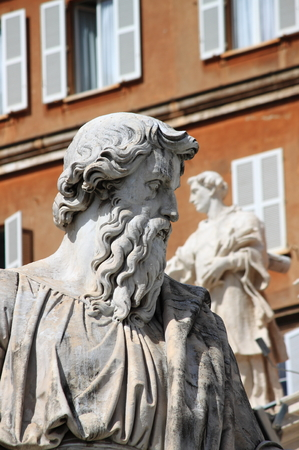 Statue of Saint Paul the Apostle in Vatican City, Rome photo
