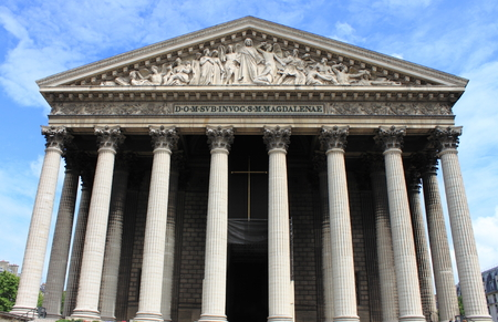 madeleine: Madeleine church in Paris, France