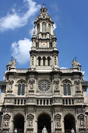 eclecticism: Saint Trinity Church in Paris, France Stock Photo