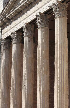 minerva: Temple of Minerva in Assisi, Italy Stock Photo