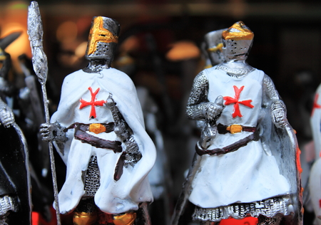 soldiers: Crusaders tin soldiers Stock Photo