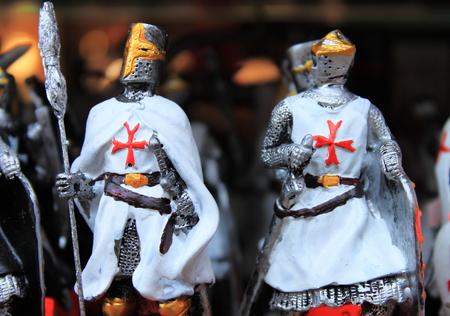 tin: Crusaders tin soldiers Stock Photo