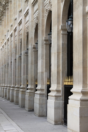 Renaissance colonnade in Paris, France Stock Photo