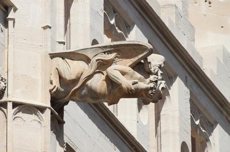 gargouille: Gargoyle at La Lonja monument in Palma de Mallorca, Spain Banque d'images