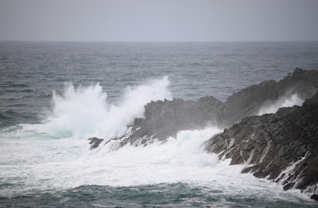 Coastline of Mizen Head in stormy weather, County Cork, Ireland