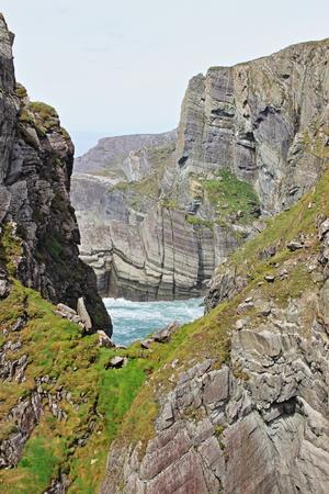 irish countryside: Mizen Head cliffs at the Atlantic coast in County Cork, Ireland - HDR