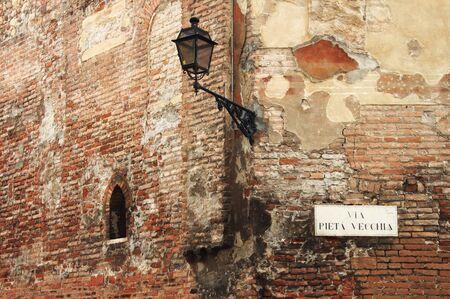urban scene: Medieval corner in Verona, Italy