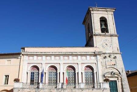 norcia: The Town Hall of Norcia. Umbria, Italy Editorial