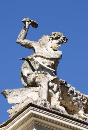 Renaissance statue in Villa Borghese park in Rome, Italy