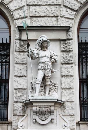 spear: Soldier with spear in Vienna Hofburg, Austria Stock Photo