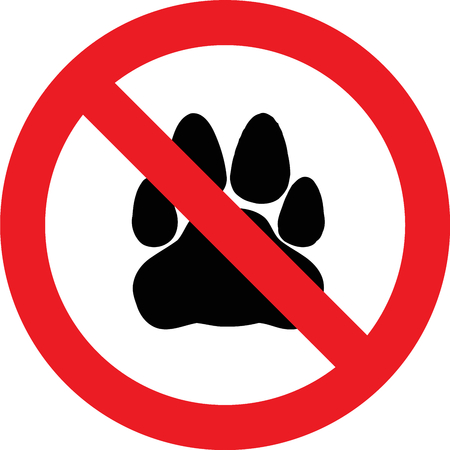domestics: No pets allowed sign Stock Photo