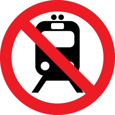 obey: No trains street sign Foto de archivo