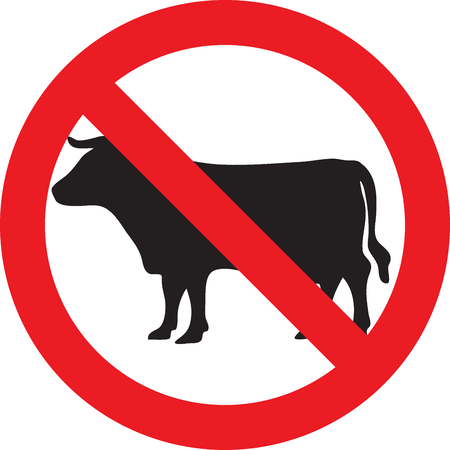 allowed: No meat allowed sign Stock Photo