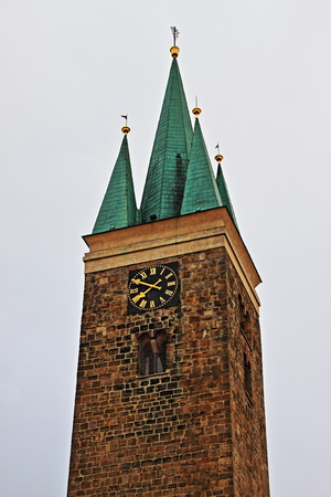 moravia: Tower of the Holy Spirit in Telc, Czech Republic