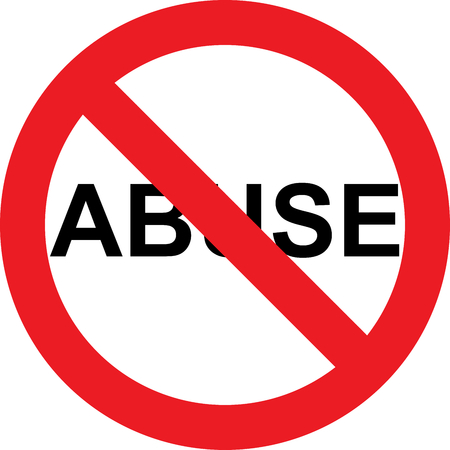No abuse allowed sign