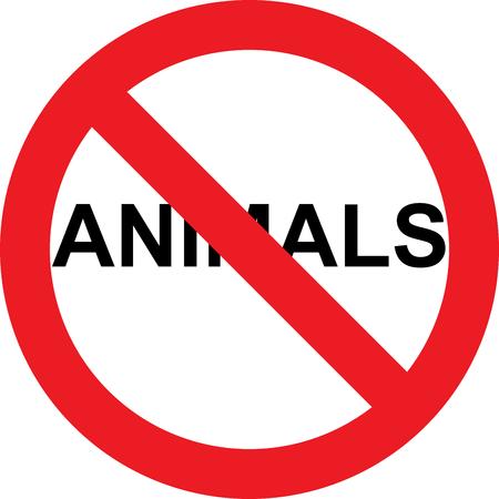 Aucun animal autorisé signe Banque d'images - 72390122