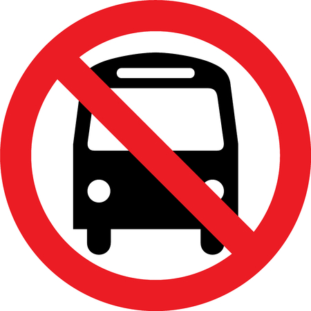 No bus allowed sign Stock Photo