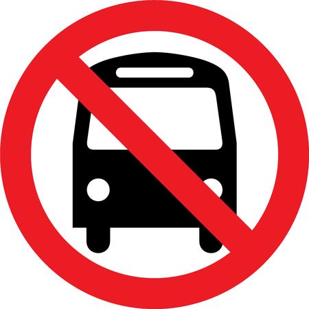 No hay autobús permitido signo