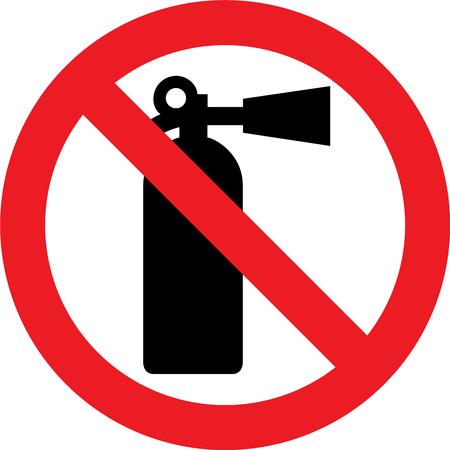 No estinguisher allowed sign