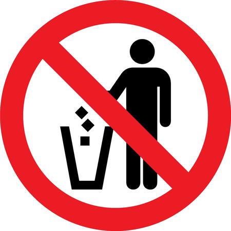 No litter allowed sign